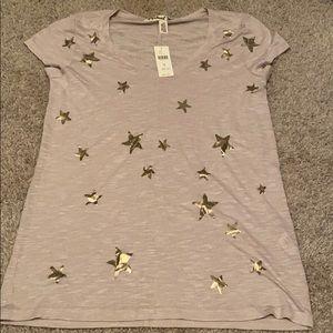 Michael Stars Tee Shirt With Stars NWT